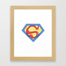 Super Daddy Framed Art Print