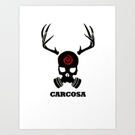 Carcosa Gas Mask Black Art Print