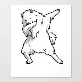 Funny Dabbing Samoyed Dog Dab Dance Canvas Print
