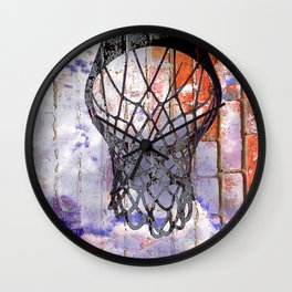 Basketball hoop dreams Wall Clock