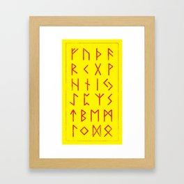 Elder Futhark Framed Art Print