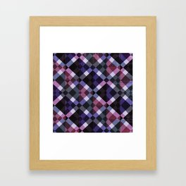 Retro Box Pattern Small Framed Art Print