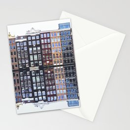 Typical Dutch houses built by the canal, Amsterdam, Netherlands Stationery Cards