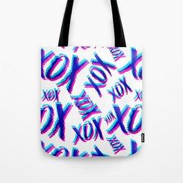 XOXOXO Love Pattern Tote Bag