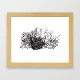 sea plants Framed Art Print