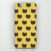 wes anderson iPhone & iPod Skins featuring Wes Racoon by mleko