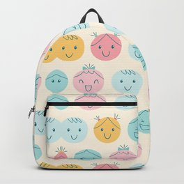 Cute Cartoon Head Pattern Art Backpack