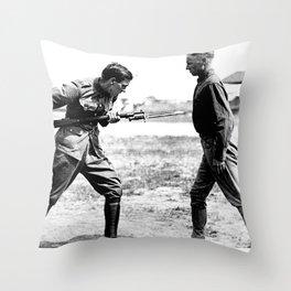 Bayonet Fighting Instruction Throw Pillow