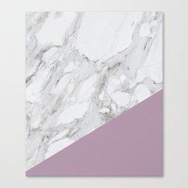 Baesic Purple Marble Canvas Print