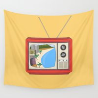 tv Wall Tapestries featuring Hawaiian TV by uzualsunday