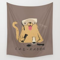 lab Wall Tapestries featuring lab-rador by Louis Roskosch