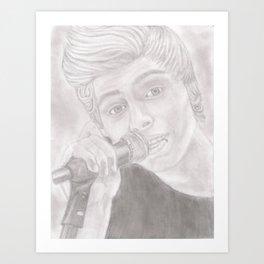 Luke 5 Seconds In Concert Drawing 2 Art Print