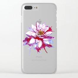 Bleeding Lotus Clear iPhone Case
