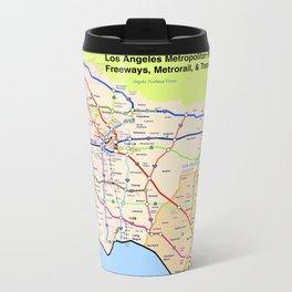 A subway style Map of Los Angeles Travel Mug