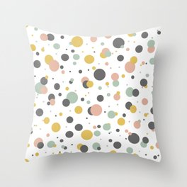 Circle colorful seamless pattern with different size and color. Throw Pillow
