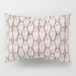 Pink and leaves Pillow Sham