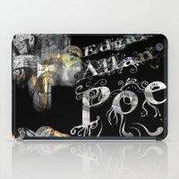 edgar allan poe iPad Cases featuring Edgar Allan Poe by Irmak Akcadogan
