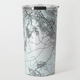 Bonn, Germany, White, City, Map Travel Mug