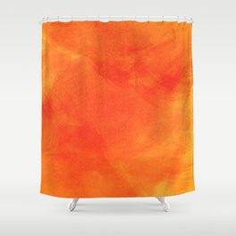 Pure Sunshine Orange and Yellow Abstract Watercolour Shower Curtain