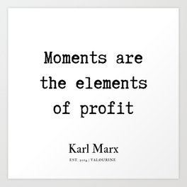 23  | Karl Marx Quotes | 190817 Art Print