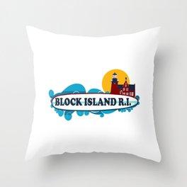 Block Island - Rhode Island. Throw Pillow