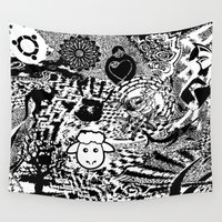 chaos Wall Tapestries featuring Chaos by Cs025