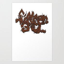 Walnut Stamp Graffiti  Art Print