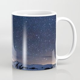 Starry Night Sky Winter Mountain Coffee Mug