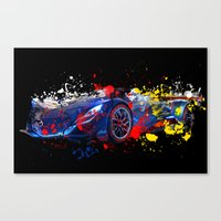 sport Canvas Prints featuring sport car by mark ashkenazi
