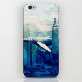 Blue Whale in NYC iPhone Skin