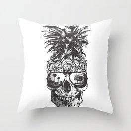 Pineapple Skull Head Throw Pillow