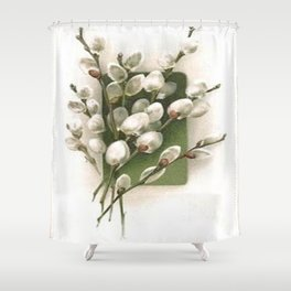 Vintage Pussy Willow Shower Curtain