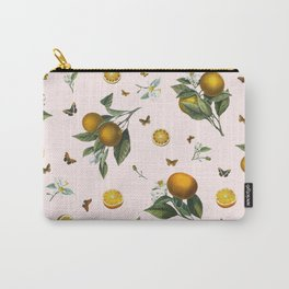 Oranges and Butterflies in Blush Carry-All Pouch