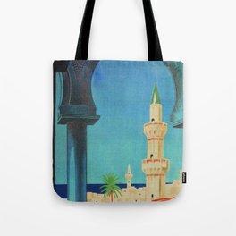 Tripoli Libya - Vintage Travel Poster Tote Bag