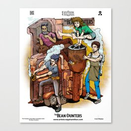 The Fantastic Craft Coffee Contraption Suite - The Bean Counters Canvas Print