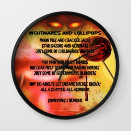 NIGHTMARES AND LOLLIPOPS - 114 Wall Clock
