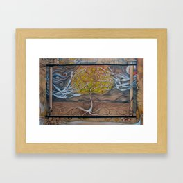 Worlds combined Framed Art Print