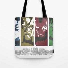 Vintage Avengers Film Poster Tote Bag