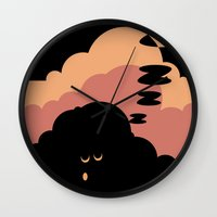 cloud Wall Clocks featuring Cloud by Herber Crispin