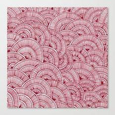 Swirls Red Canvas Print