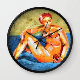 La pomme Wall Clock