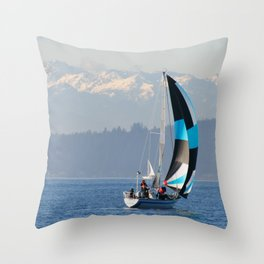 Sailing the Pacific Northwest Throw Pillow
