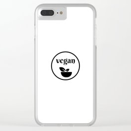 vegan Clear iPhone Case