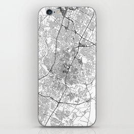Austin White Map iPhone Skin
