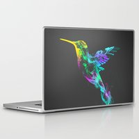 smoke Laptop & iPad Skins featuring Strange smoke by Robert Farkas