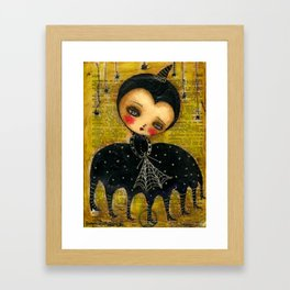 Spider Woman Hallowen Art Framed Art Print