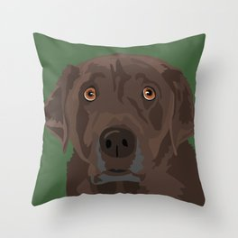 Mocha Throw Pillow
