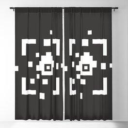 Open borders.  Pixels without borders. Black background. Blackout Curtain