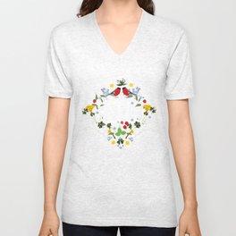 Hello blomster Unisex V-Neck