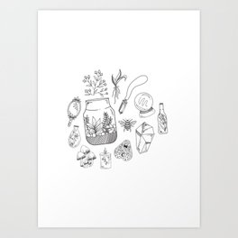 Witchy Items Collection, Nature Witch, Magic Art Print
